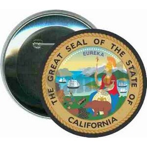 States - The Great Seal of California - 3 Inch Round Button