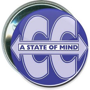 Cross Country - A State of Mind - 2 1/4 Inch Round Button